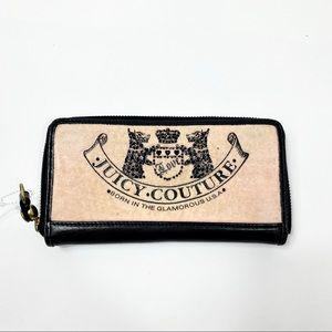 Juicy Couture Zip Around Large Wallet Velour pink